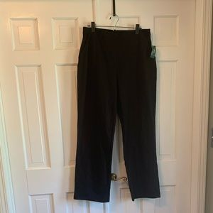 LL Bean Large Black Straight Leg Perfect Fit Pants